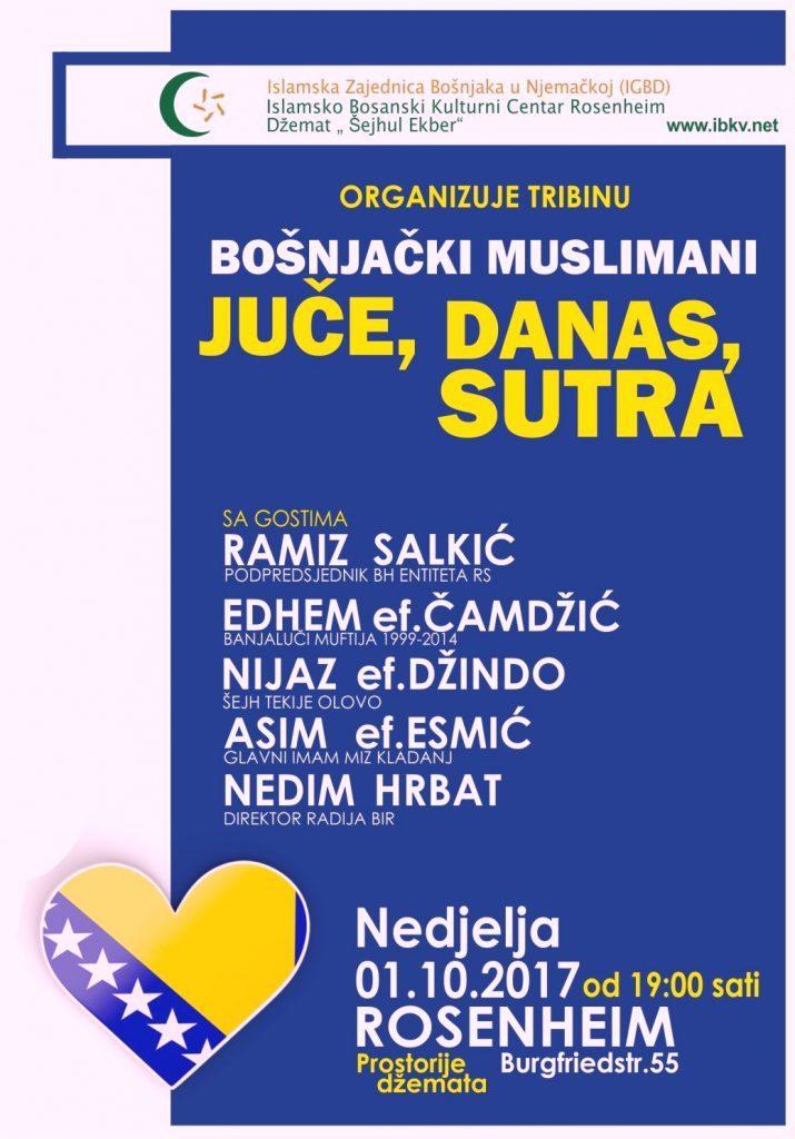 "01.10.2017 Tribina "" JUČE, DANAS, SUTRA"""